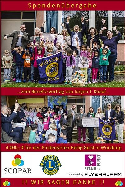 Spendenübergabe an Kindergarten