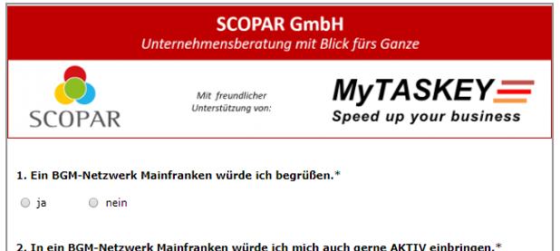 BGM-Netzwerk Mainfranken (Umfrage)