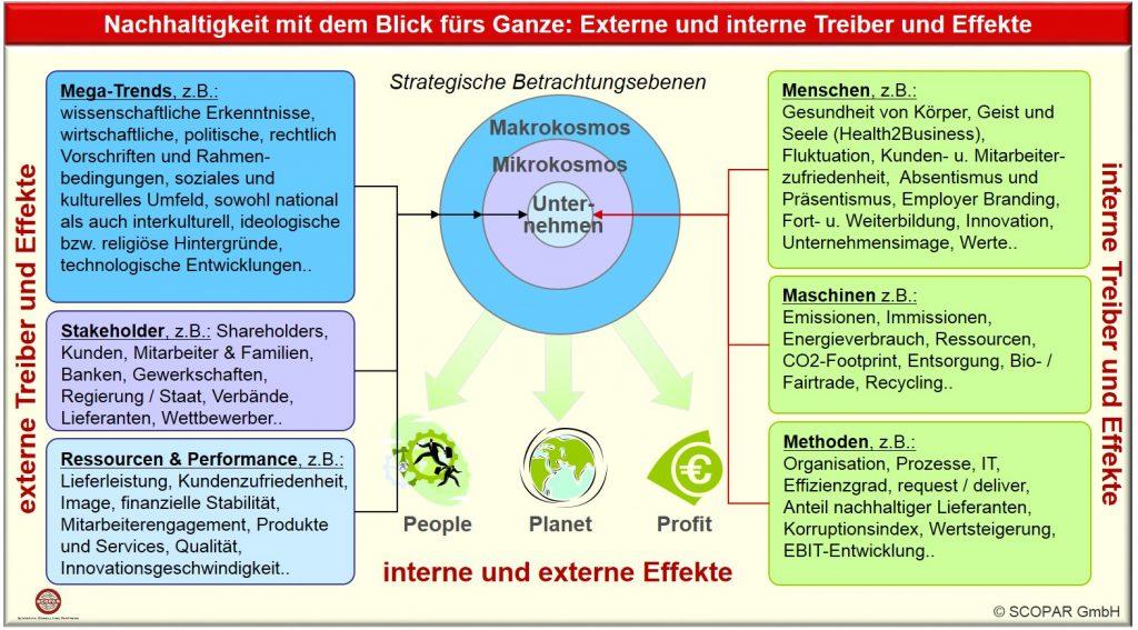 Nachhaltigkeit mit Blick fürs Ganze: Interne Treiber-Effekte wie People, Planet, Profit